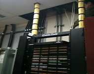 network rack cabling with fiber